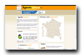 screenshot de www.agendaculturel.fr