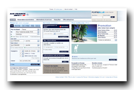 screenshot de www.airfrance.fr