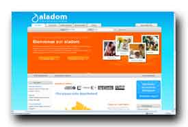 screenshot de www.aladom.fr
