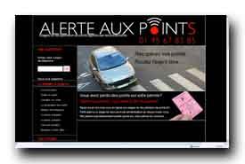 screenshot de www.alerteauxpoints.fr