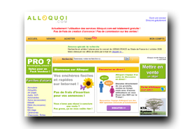 screenshot de www.alloquoi.com