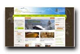 screenshot de www.alpesgourmet.com
