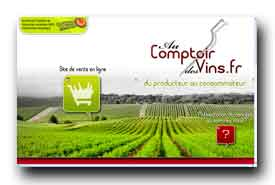 screenshot de www.aucomptoirdesvins.fr