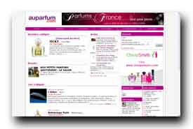 screenshot de www.auparfum.com