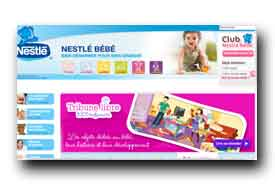 screenshot de www.bebe.nestle.fr