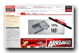 screenshot de www.bricodepot.fr