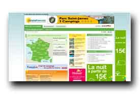 screenshot de www.campingfrance.com