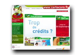 screenshot de www.cartecora.fr