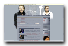 screenshot de www.christophe-willem.com