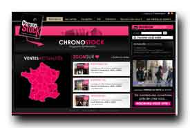 screenshot de www.chronostock.fr