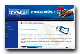 screenshot de www.cinecheque.fr