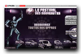 screenshot de www.citroen.fr