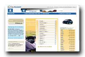 screenshot de www.clicpeugeot.com