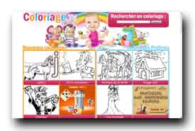 screenshot de www.coloriage.tv