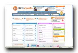 screenshot de www.devispresto.com