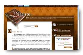 screenshot de www.diariste.fr