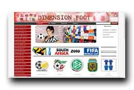screenshot de www.dimension-foot.com