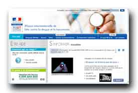 screenshot de www.drogues.gouv.fr