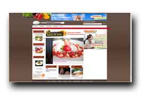 screenshot de www.easyfrenchcook.fr