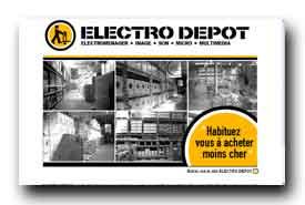screenshot de www.electrodepot.fr