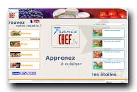 screenshot de www.francechef.tv