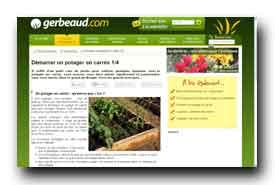 screenshot de www.gerbeaud.com/jardin/fiches/potager-carre-debuter.php