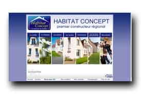 screenshot de www.habitatconcept-fr.com