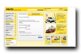 screenshot de www.hertz.fr