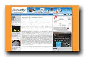 screenshot de www.igeneration.fr