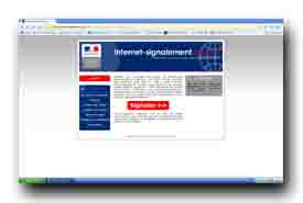 screenshot de www.internet-signalement.gouv.