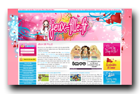 screenshot de www.jeux-fille.fr