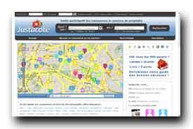 screenshot de www.justacote.com