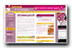 screenshot de www.koocook.com