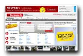 screenshot de www.lacentrale.fr