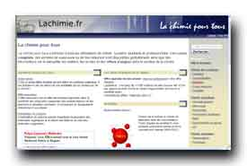 screenshot de www.lachimie.fr