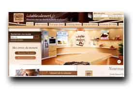screenshot de www.latableadessert.fr