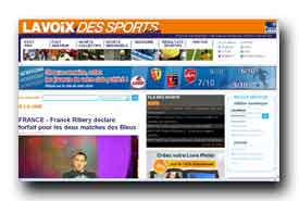 screenshot de www.lavoixdessports.com
