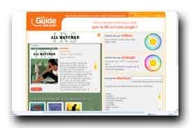 screenshot de www.leguidebd.com