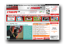 screenshot de www.lequipe.fr