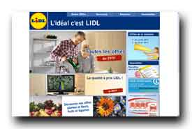 screenshot de http://www.lidl.fr