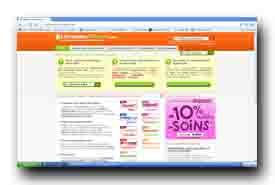 screenshot de www.livraisons-courses.com