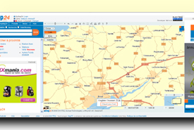 screenshot de www.map24.com