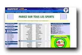 screenshot de www.maxifoot-live.com