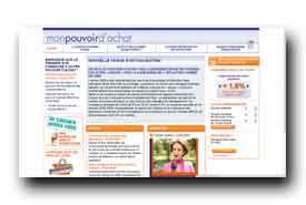 screenshot de www.mon-pouvoir-dachat.com