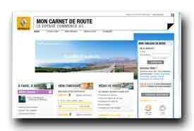 screenshot de www.moncarnetderoute.com