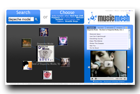 screenshot de www.musicmesh.net