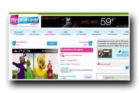 screenshot de www.mygamecover.com