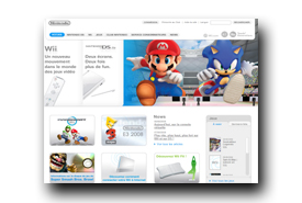 screenshot de www.nintendo.fr