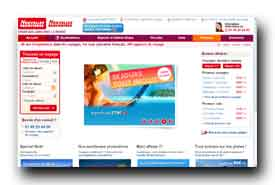 screenshot de www.nouvelles-frontieres.com