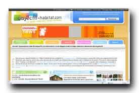 screenshot de www.objectif-habitat.com